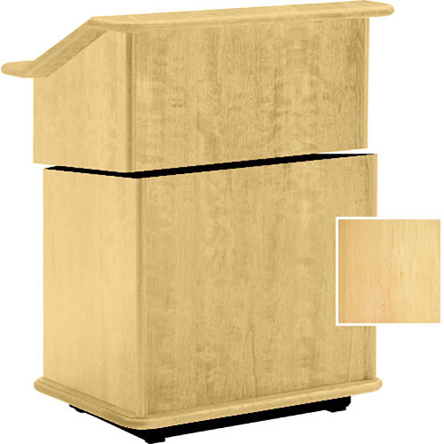 "Da-Lite Lancaster 25"" Stacking Lectern with Sound System (Honey Maple)"