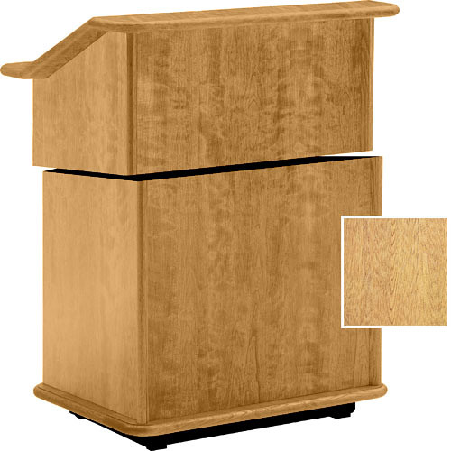 "Da-Lite Lancaster 25"" Stacking Lectern w/Sound System (Light Oak)"