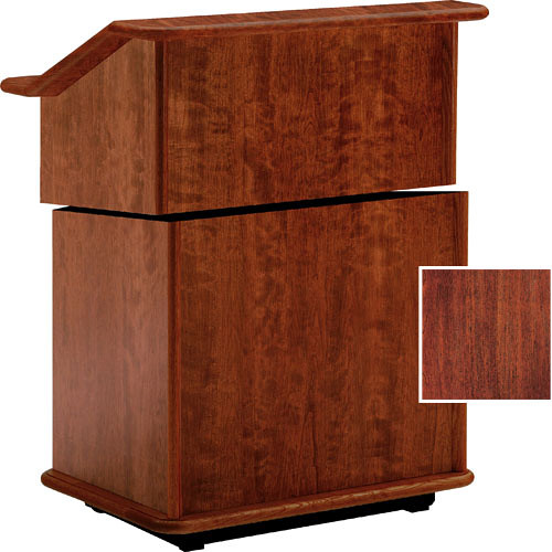 "Da-Lite Lancaster 25"" Stacking Lectern w/Sound System (Mahogany)"