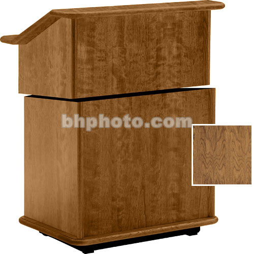 "Da-Lite Lancaster 25"" Stacking Lectern w/Sound System (Natural Walnut)"