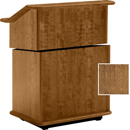 "Da-Lite Lancaster 25"" Stacking Lectern  (Natural Walnut)"