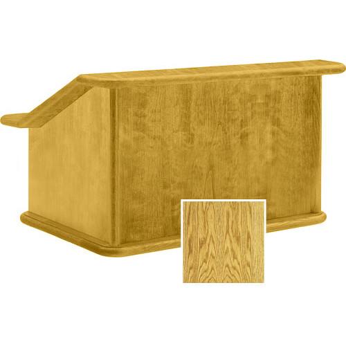 "Da-Lite Lancaster 25"" Table Lectern - Sound System (Medium Oak)"