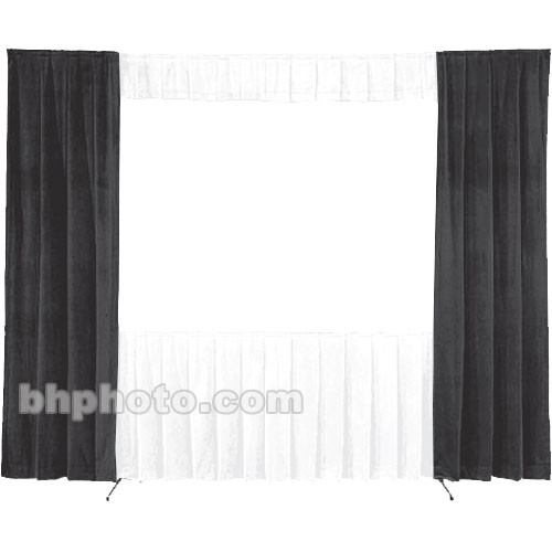 Da-Lite 30-in. Wide Wing Drapes - Pair (Black) 87343B
