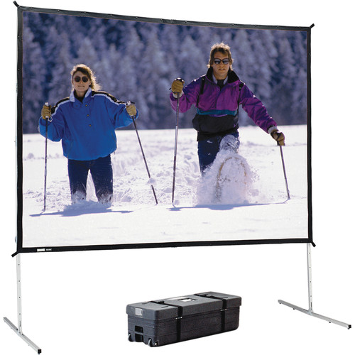 Da-Lite 88637KHD Heavy Duty Frame and Legs Fast-Fold Deluxe Projection Screen (9 x 9')