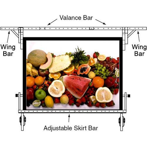 "Da-Lite Adjustable Skirt Bar for 83 x 144"" Fast-fold Portable Projection Screen"