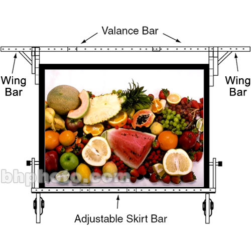 "Da-Lite Adjustable Skirt Bar for 83 x 144"" Fast-fold Portable Projection Screen"