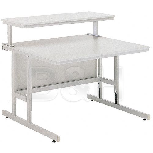 """Da-Lite 90092 PCT 140-100 HM 55"""" Width with Modesty Panel and 4"""" Casters (Gray)"""