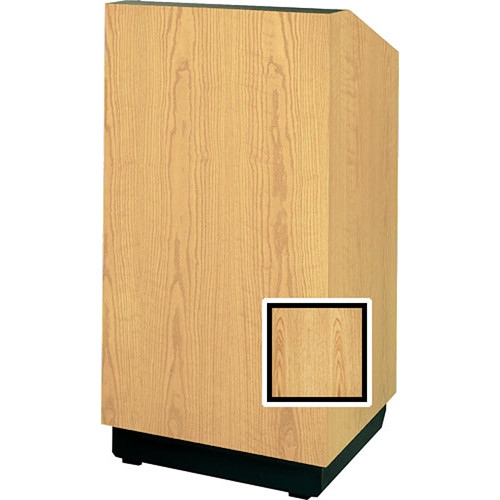 "Da-Lite Floor Lectern, 32"" Multi-Media - The Lexington - Medium Oak Veneer"