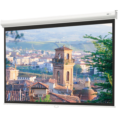 "Da-Lite Designer Contour Manual Screen with CSR (Controlled Screen Return) - 45 x 80"" - 92"" Diagonal - HDTV Format (16:9 Aspect) - Matte White"
