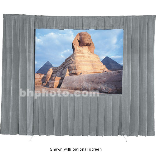 Da-Lite Fast-Fold Velour Drapery Kit for Heavy Duty Frames (11 x 11')