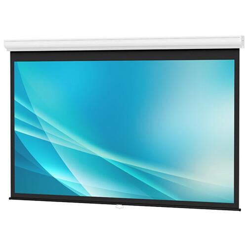 "Da-Lite Designer Contour Manual Screen with CSR (Controlled Screen Return) - 45 x 80"" - 92"" Diagonal - HDTV Format (16:9 Aspect) - Matte White HC (High Contrast)"