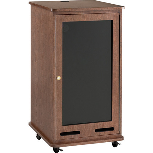Da-Lite 21 Space Equipment Rack Cart (Mahogany Veneer)