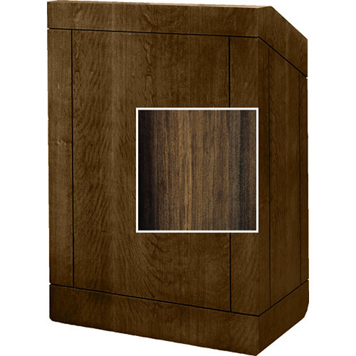 "Da-Lite Floor Lectern, 32""-The Providence-No Sound-Heritage Walnut Laminate"
