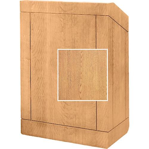 "Da-Lite Floor Lectern, 32"" Multi-Media - The Providence - No Sound - Light Oak Veneer"