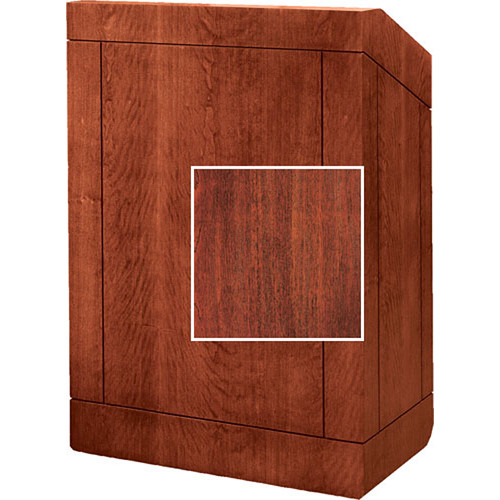 "Da-Lite Floor Lectern, 32"" Multi-Media - The Providence - No Sound - Mahogany"