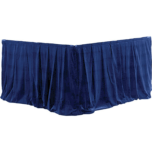Da-Lite 95492BU Fast-Fold Drapery Surround with Ultra Velour Material (Blue, 2 Drapes)