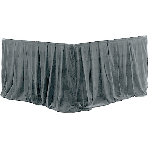 Da-Lite 95492GR Fast-Fold Drapery Surround with Ultra Velour Material (Gray, 2 Drapes)