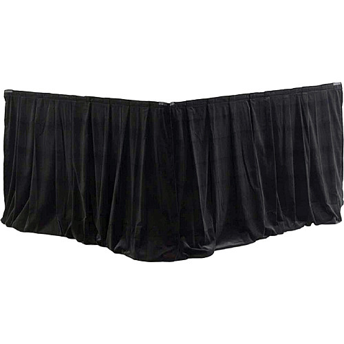 Da-Lite 95492 Fast-Fold Drapery Surround with Ultra Velour Material (Black, 2 Drapes)