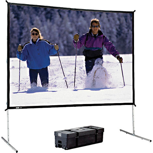 Da-Lite Heavy Duty Fast-Fold Deluxe Projection Screen (12 x 12')