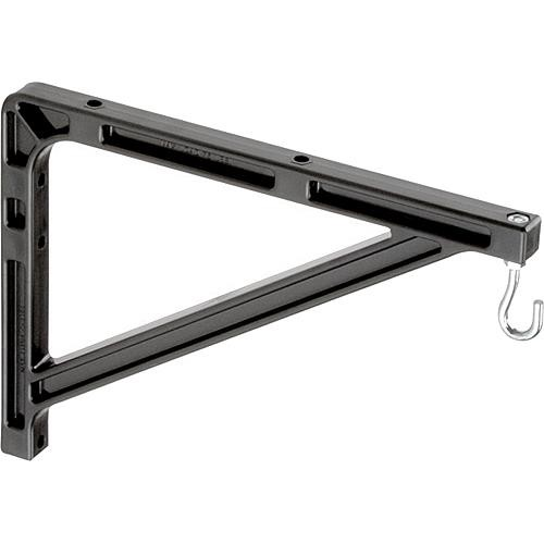 "Da-Lite 98036 #11 Wall Mount Brackets (Extends 14"", Pair, Black)"