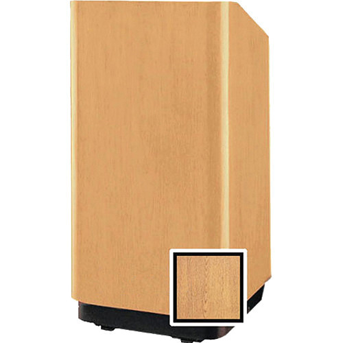 "Da-Lite 25"" Floor Lectern with Height Adjustment (Light Oak Laminate)"