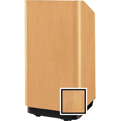 """Da-Lite 25"""" Floor Lectern with Height Adjustment (Light Oak Veneer)"""