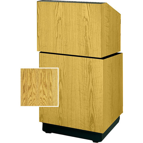 "Da-Lite Lexington Stacking Lectern 98111MO - 25""  (Med. Oak Veneer)"