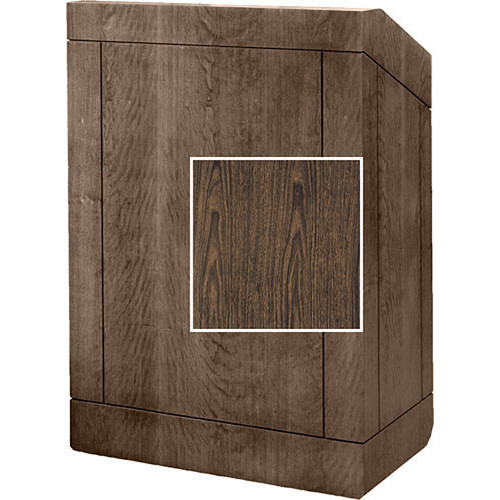 "Da-Lite Floor Lectern 98145GW- 25"" (Gunstock Walnut Veneer)"