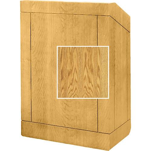 "Da-Lite Floor Lectern 98147MO - 25"" (Med. Oak Veneer)"