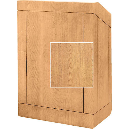 "Da-Lite Providence 42"" Multi-Media Floor Lectern - Veneer (Light Oak)"