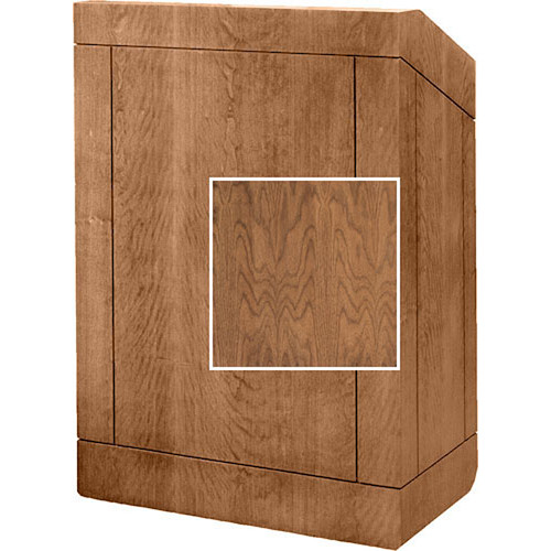 "Da-Lite Floor Lectern, 42"" Multi-Media 98155NW (Natural Walnut)"