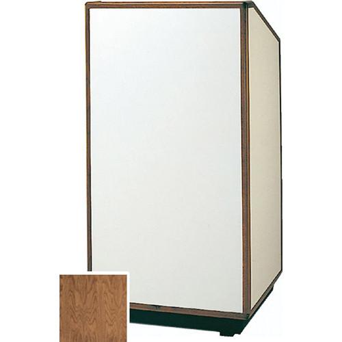 """Da-Lite 98166 Floor Lectern (32"""" Wide, Natural Walnut Veneer)"""