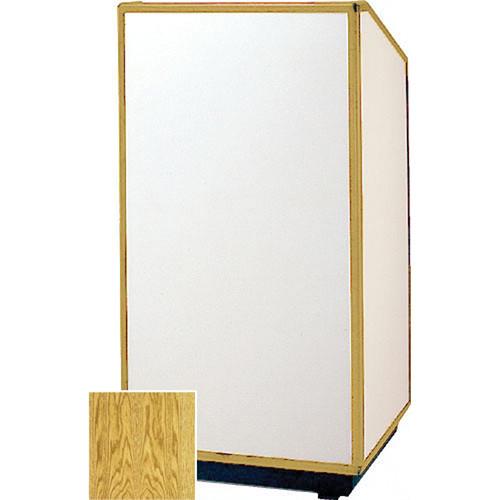 "Da-Lite 98167 Floor Lectern (32"" Wide, Medium Oak Veneer)"