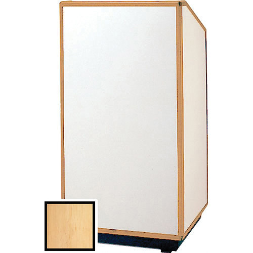 "Da-Lite 98169 Floor Lectern (25"" Wide, Honey Maple Laminate)"