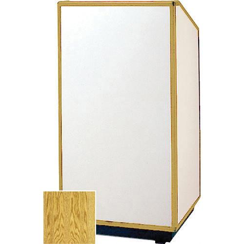 "Da-Lite 98178 Floor Lectern (25"" Wide, Medium Oak Veneer)"
