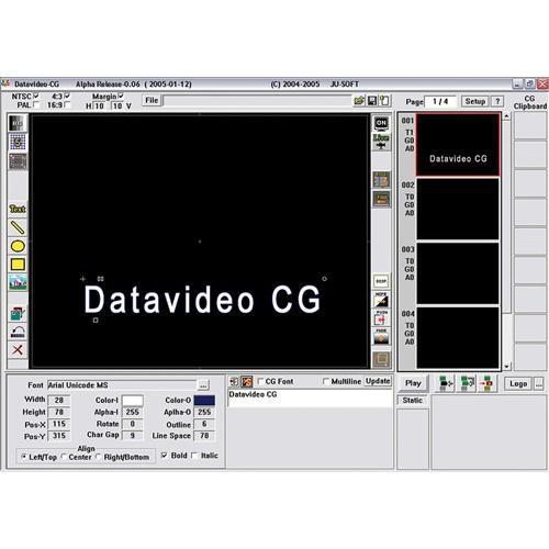 Datavideo CG-100-Studio Character Generator with Studio Card