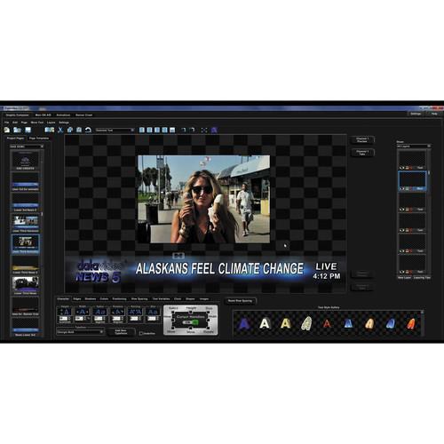 Datavideo CG-300 Character Generator Kit for SD & HD
