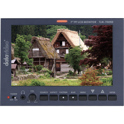 """Datavideo TLM-700HD 7"""" LCD Monitor with Anton Battery Mount"""