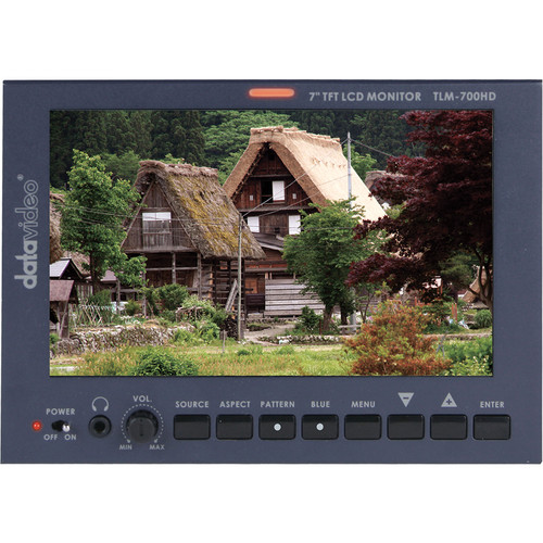 """Datavideo TLM-700HD-S2 7"""" LCD Monitor with S7000F Sony Battery Mount"""