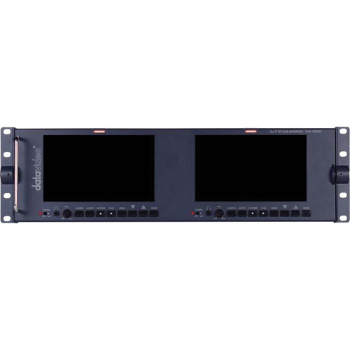 "Datavideo TLM-702-HD 7"" Dual LCD Monitor Rack-Mount"