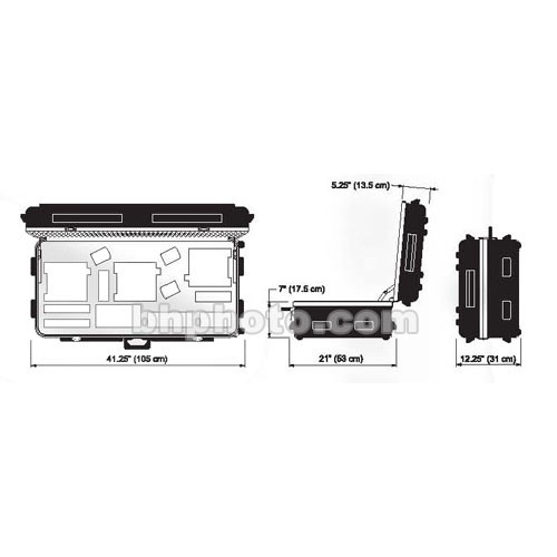 Dedolight DCHD3X6 Heavy Duty Transport Case