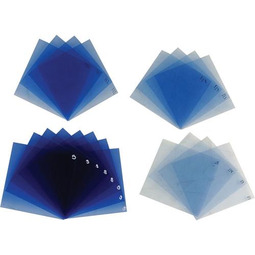"""Dedolight 20-Piece Mixed Blue Filter Set (3 x 3"""")"""
