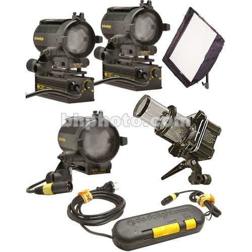 Dedolight Standard Traveler 4 Light Kit (230VAC/12VDC)