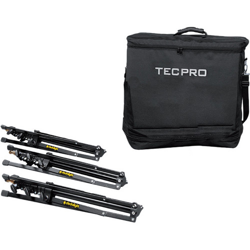 Dedolight TPSC3 Soft Case with 3 DST Stands