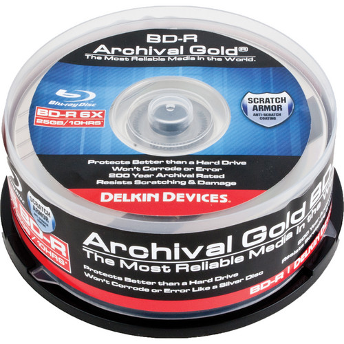 Delkin Devices Blu-ray 200 Year Disc (Spindle Pack of 25)