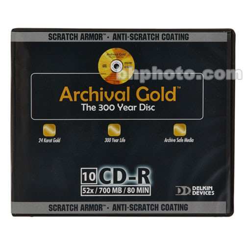 Delkin Devices Archival Gold SA CD-R (10)