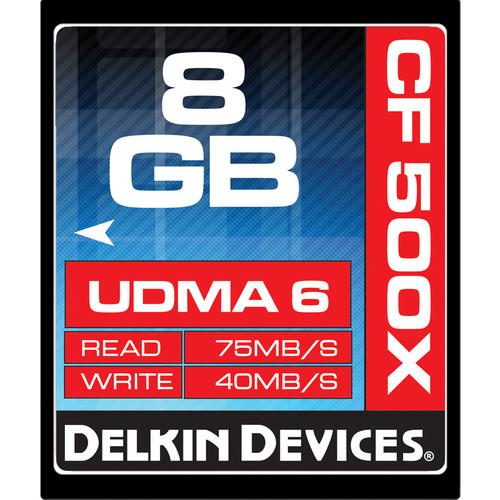 Delkin Devices 8GB CompactFlash Memory Card 500x UDMA