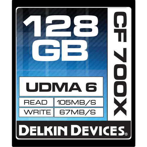 Delkin Devices 128GB CompactFlash Memory Card 700x UDMA