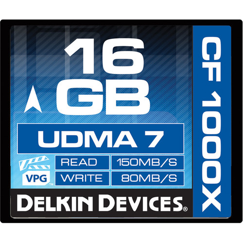 Delkin Devices 16GB CompactFlash 1000x UDMA Memory Card
