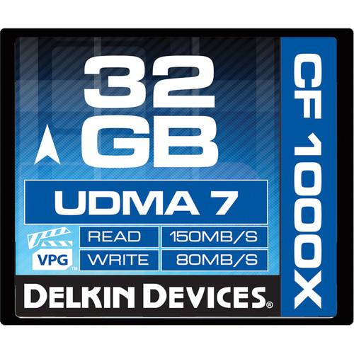 Delkin Devices 32GB CompactFlash 1000x UDMA Memory Card